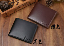 Men Faux Leather ID Credit Card Holder Clutch Bifold Coin Purse Wallet Pockets