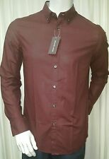 NWT Tailored Fit  Button Front L/S Shirt by Michael Kors Size M Retail $130