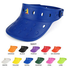 Durable Adjustable Floatable Foam Visor Hat with SAILBOAT Snap Charm