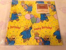 Paddington Bear Happy Birthday Gift Wrapping Paper ~ Hallmark ~ New & Sealed
