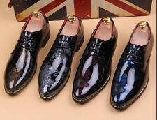 Mens Casual Patent Leather Lace Up oxfords Business Shoes#chic urban size