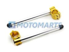 Gold 37mm Clip On Ons Handlebars Handle Bar 1 Pair CNC