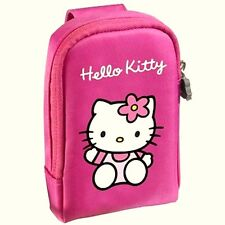 PINK HELLO KITTY CAMERA PHONE MP3 CASE BAG -SOFT PADDED PROTECTION +WRIST STRAP