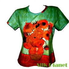 VINCENT VAN GOGH Sunflowers Flower BOHO T SHIRT MODERN FINE ART PRINT PAINTING
