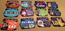 "Cat Lover oval magnets * Your Choice* 6"" wide* Love Cat MISSING Grandchild Kitty"