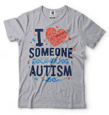 Autism Awareness T-shirt I love someone with Autism Tee Shirt