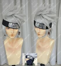 Naruto Hatake Kakashi Short Layered Silver Grey Cosplay Wig Cos Hair Wigs E142