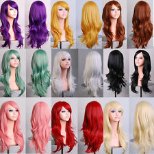 70CM 13 Color Anime Synthetic Fiber High Temperature Long Curly Hair Wig Cosplay