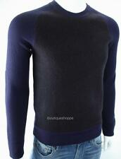 Armani Exchange A|X Mens Crewneck Wool Mixed Media Elbow Patch Sweater NWT $150