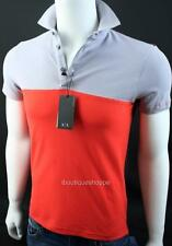 Armani Exchange A|X Mens Bold Colorblocked Polo Short Sleeve Top NWT
