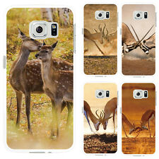 Fashion Deer Protective Case Cover for iPhone7 Samsung Galaxy S7 Edge Happy