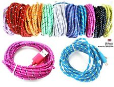 3M Strong FABRIC BRAIDED Micro USB Data Sync CHARGER CABLE for Samsung Sony HTC