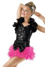 Dance Costume Large Child PINK Feathers Jazz Tap Musical TheaterSolo Competition