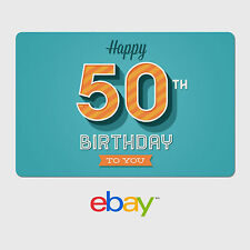 eBay Digital Gift Card - Happy 50th Birthday -  Fast email delivery