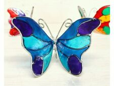 Colourful Butterfly Sun Catcher Window Sucker Stained Glass Effect Hand Made