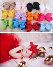 Toddler Kids Baby Girl Hair Band Bow Accessories Headbands Headdress Big Bowkn W
