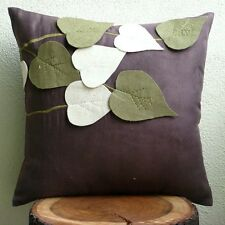 Brown Throw Cushion Covers, 55x55 cm Faux Suede Cushion Covers - Oliveleafyday
