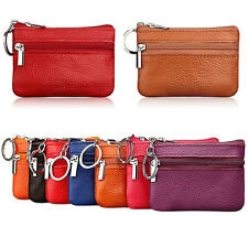 Soft Women Card Coin Key Holder Zip Leather Wallet Pouch Change Bags Purse Case