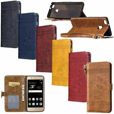 Retro Leather Skin Wallet Card Cover Cell Case For Huawei P8 Lite/P9 Lite/Mate 9
