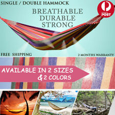 New Single Double Hammock Cotton Fabric Air Swing Chair Hanging Camping Outdoor