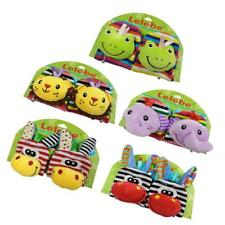 Infant Baby Kids Cute Animal Hand Wrist Bells Foot Socks Rattles Soft Toys