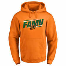 Florida A&M Rattlers Orange Double Bar Pullover Hoodie - College
