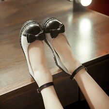 Flats Heels Round Toe Ankle Strap Women Sandals Ladies Shoes Mary Jane Plus Size