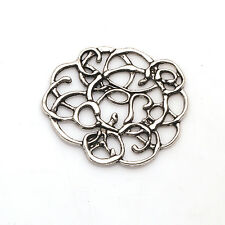 5/10/25/50 PCS Hollow Flowers Tibetan Silver Jewelry Findings Connectors