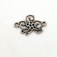 15/30/75/150 Pcs Tibetan Silver Flowers Jewelry Findings Charms Connectors