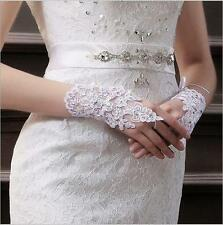 New WhiteIvory Bridal Gloves Wedding Accessory Lace Sexy Fingerless Gloves 2017