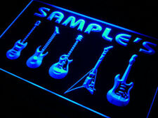 Custom Guitar lounge light sign - Personalized name music lover wall hanging