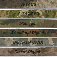 """MILITARY CAMO WEBBING, 6 Mil Spec Variations 1"""" Wide, Double Sided, Auth Dist."""