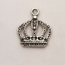 Crown Tibetan Silver Pendants Charms Jewelry Findings Fit Necklace