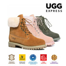 UGG Boots Hope - Ladies Fashion with Front Lace, Australian wool lining