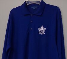 NHL Toronto Maple Leafs Embroidered Mens Long Sleeve Polo S-6XL, LT-4XLT New