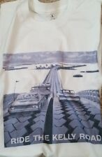 New Men's Silver White Ride The Kelly Road Tires Vintage Tee T Shirt L XL 2XL