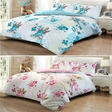 Deluxe Rose Floral Patchwork Pattern 100% Cotton Duvet Cover Pillowcase Set