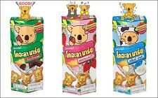 Lotte Koala's March Biscuits with Chocolate,Strawberry, Milk Cream Filling Delic