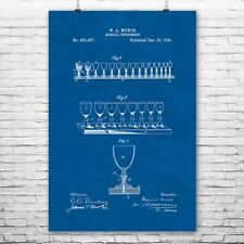 Glass Harp Musical Glasses Poster Patent Print Gift Patent Print Patent Poster