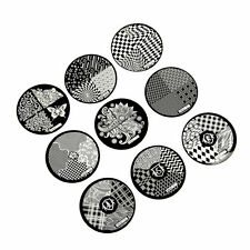 Fashion DIY Nail Art Image Stamp Stamping Plates Manicure Template 9 Styles AU