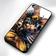 WOLVERINE CLAWS CARTOON HARD BLACK PHONE CASE COVER FITS IPHONE 4 5 6 7 (#BH)