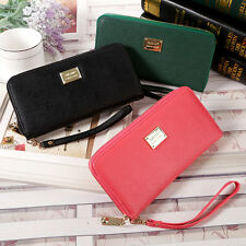 Women Leather Wallet Clutch Coin Bag Long Purse Unique Gift Card Holder Handbag