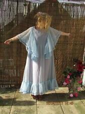 OUTSTANDING VTG 60S ANGEL SLEEVE MAXI DRESS SZ 10 GODDESS ABIGAILS PARTY RETRO