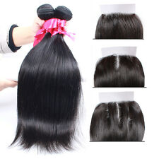 Brazilian Virgin Human Remy Hair Extensions Weaving Weft 4 Bundles With Closure