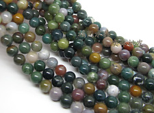 Natural Indian Agate Gemstone Round Beads 15'' 4mm 6mm 8mm 10mm 12mm
