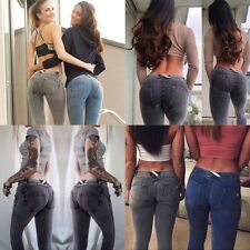 New Women Push Up Demin Jeans Sexy Hip Jean Skinny Trousers Tight Pencil Pants