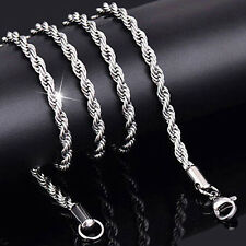 Women's Men's Silver Plated Twist Chain Necklace Charm Fashion Jewelry Advanced