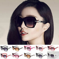 Fashion Women's Designer Retro Shades Large Frame Sunglasses Eyewear
