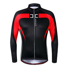 Autumn Cycling Jacket Long Jersey Winter Windproof Coat Sleeve Fleece Thermal