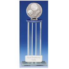 Global Clear glass  Football Trophy in 2 Sizes Free Engraving up to 30 Letters